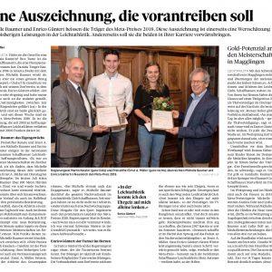 Enrico wird mit dem Meta-Preis 2018 ausgezeichnet – 16.02.2018